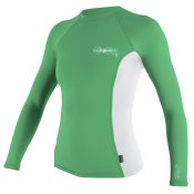 O'Neill Womens Skins Long Sleeved Crew (Mint/White