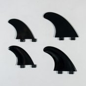 Northcore FCS Compatible Quad Fins (Black)