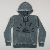 Quiksilver Burn Out Hood Zip F3 (Dark Grey)
