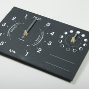 Ashortwalk Recycled Moon & Tide Chalk Clock (Black