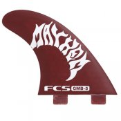 FCS Matt Biolos GMB-5 PC Thruster Fin Set (Red)